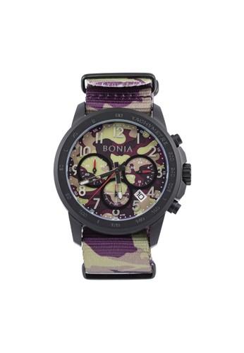 BONIA purple and brown Bonia B10160-1724C - Jam Tangan Pria - Brown Purple BO710AC60XZRID_1