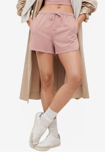 Mango pink Cotton Organic Shorts 9983FAA10AC04DGS_1