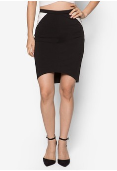 Collection Dipped Hem Pencil Skirt