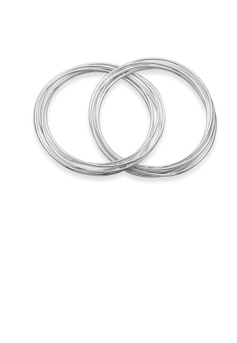 Glamorousky silver Simple and Fashion Multilayer Geometric Round Bangle 6F664ACFD059D4GS_1