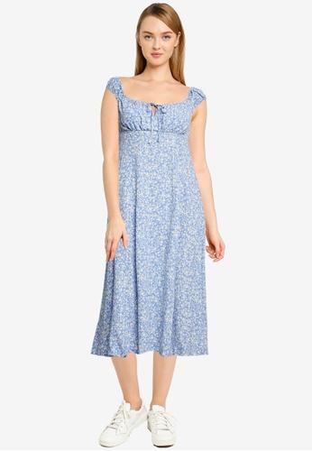 Forever New blue Elise Midi Sun Dress 5A527AAE1FA8FBGS_1