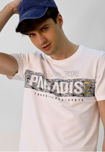 Cheetah white Cheetah CNY Short Sleeve T-Shirt With Print - 98286 65F21AACA691ECGS_1