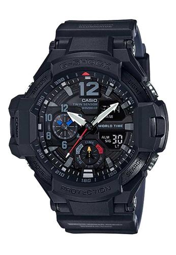CASIO black Casio G-Shock Gravitymaster Black Resin Watch E1AAFAC7DD1899GS_1