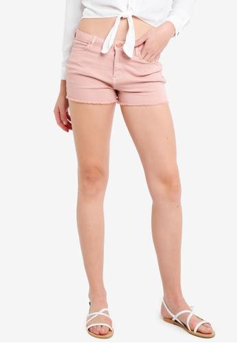 Miss Selfridge pink Epp Pnk Mid Rise Shorts 25DCFAA28531DBGS_1