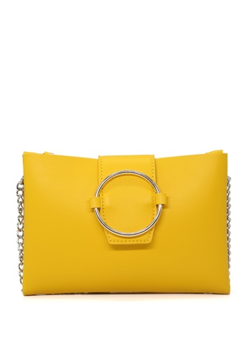 London Rag yellow Sling bag with magnetic flap closure CB2A9AC97285A3GS_1