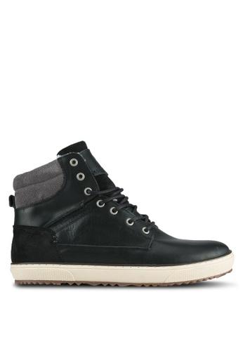 Dune London black Warm Lined Hi-Top Sneakers DU588SH0SIONMY_1