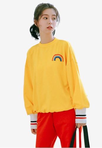 Shopsfashion yellow Rainbow Sweatshirt C67E6AA78007DEGS_1