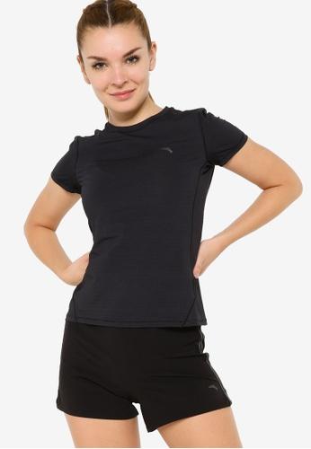 Anta 黑色 C100 短袖T恤 90BD3AAC64E9E2GS_1