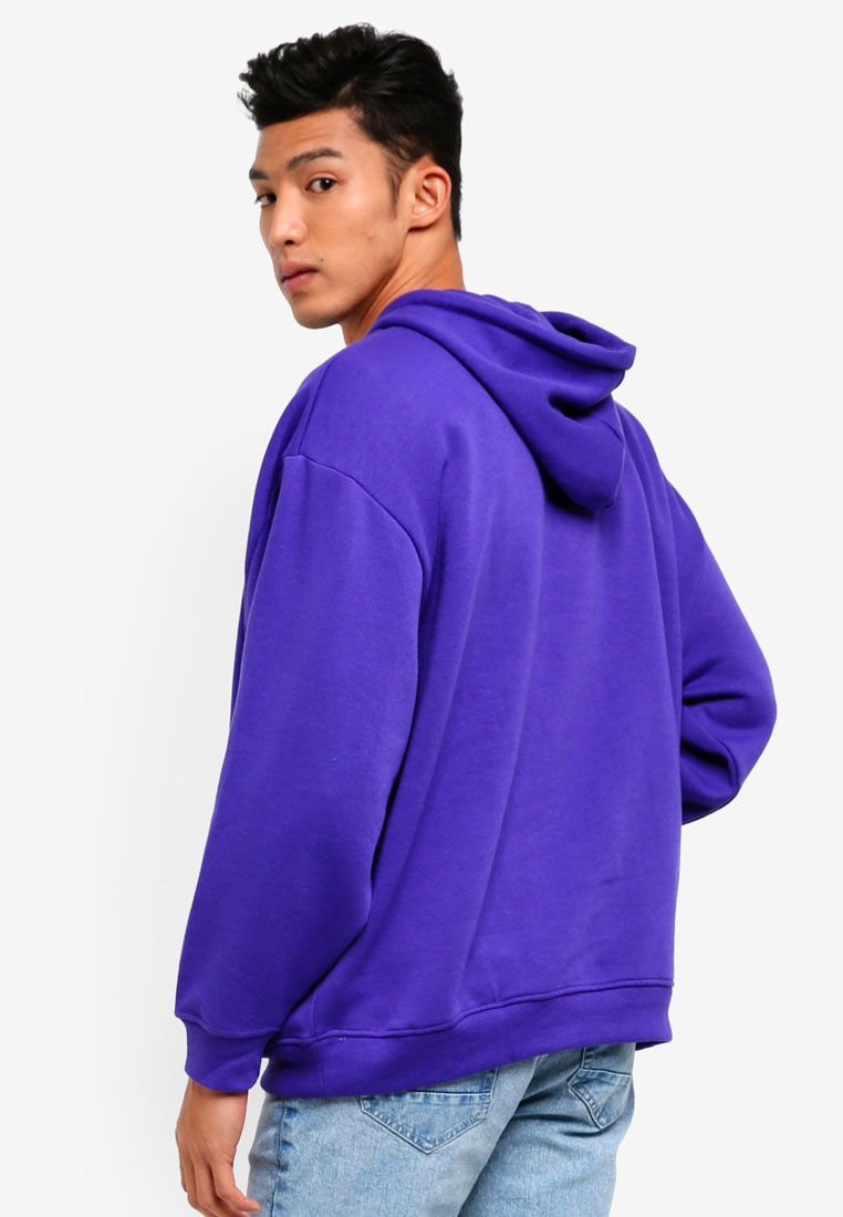 Tbc Print Factorie With Print Blue Limelight Hoodie Deep Oversized 81xwOw
