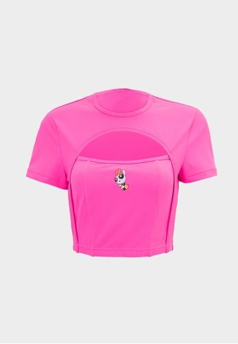 Pomelo pink The Powerpuff Girls Cutout Top - Pink C6DD5AA2385346GS_1