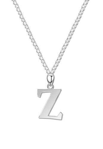 SC Tom Silver silver Letter Pendant with Chain SC872AC0J8NKPH_1
