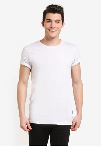 Cotton On white Ae Droptail Tee (Slim Fit) CO372AA0RI1UMY_1