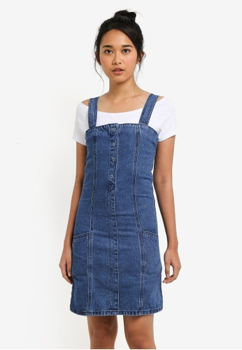 02d8833900 Shop Something Borrowed Buttoned A-Line Denim Dress Online on ZALORA  Philippines