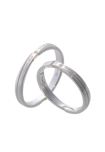 The LoveMark silver Loving You Couple Ring with Artificial Diamonds lr0008 TH516AC14VCZPH_1