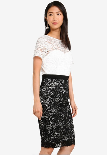 Paper Dolls black and white Lace Bodycon Dress CA10FAAAE1A6F5GS_1
