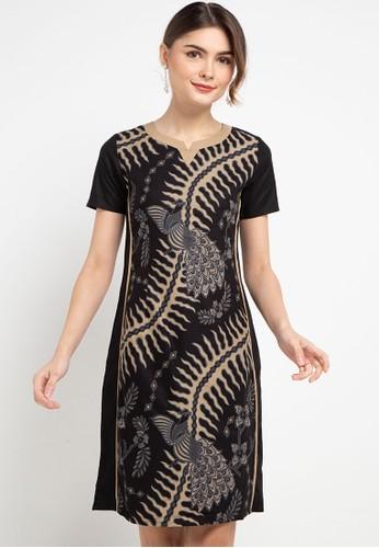 Rianty Batik black Dress Leandra 604B4AAAC90D38GS_1