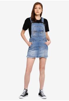 8ba74d77a2 42% OFF Superdry Denim Dungaree Dress S$ 119.00 NOW S$ 68.90 Sizes 6 8 10 12