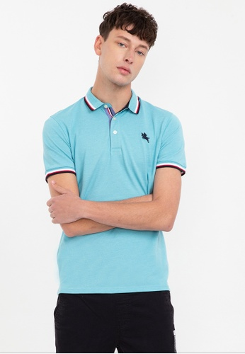 Bossini blue Short Sleeve Premium Polo Shirt 6CBF8AA8DBEB17GS_1