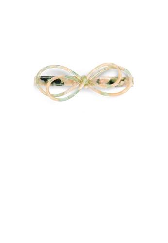 Glamorousky green Fashion Vintage Light Green Ribbon Hair Clip 773C6AC7D409F6GS_1