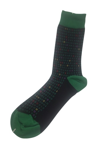Splice Cufflinks Splashy Series Binary Numbers Design Socks SP744AA57OZUSG_1