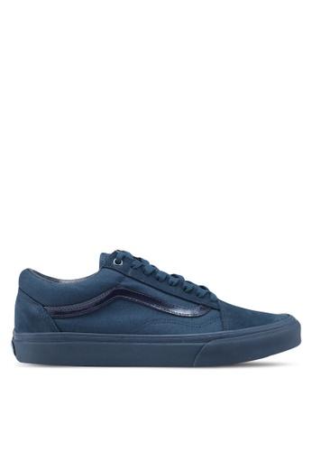 VANS blue and navy Old Skool Mono Metallic Sneakers VA142SH0SWWBMY_1