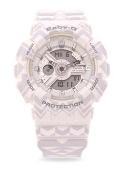 cc4be068af57 Casio white BABY-G Digital Analog Watch BA-110TP-7A CA076AC66EKBPH 1
