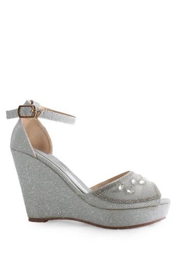 CLARETTE silver Clarette Wedges Kyoko Silver CL076SH80CNFID_1