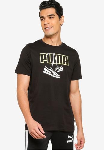 Puma black Sneaker Inspired Men's Tee 38919AAF01D89FGS_1