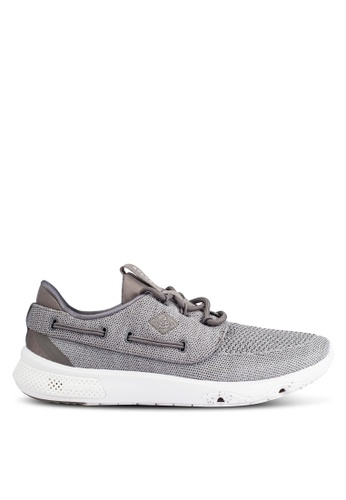 Sperry grey 7 Seas 3-Eye Knit Sneakers SP132SH0RU4NMY_1