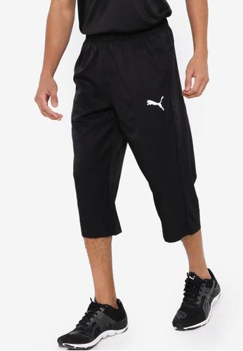 PUMA black Active Woven 3/4 Men's Sweatpants CCF3AAA34734E9GS_1