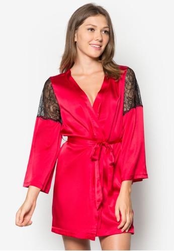 蕾絲拼接綢緞睡袍, 服飾, 京站 esprit服飾