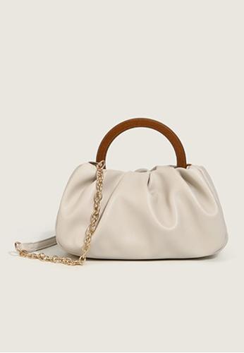 Halo white Two Way Hand Bag Crossbody Bag DB049AC5C08E76GS_1