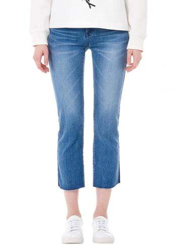 VOV(Voice of Voices) blue Back Lettering Denim Jeans 1B472AADA81F44GS_1