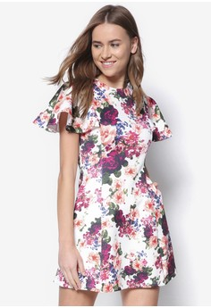 Collection Flounce Sleeve Swing Dress