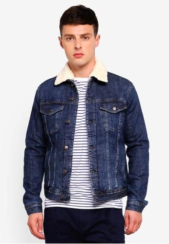 Sisley 藍色 毛領丹寧外套 5F4DEAAFCD1320GS_1