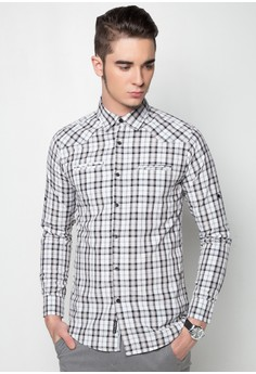 Checkered Long Sleeves Button Down