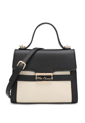 Wild Channel black Women's Hand Bag / Top Handle Bag / Shoulder Bag AE675AC48C90C4GS_1