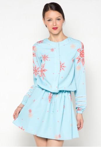 Bateeq Long Sleeve Dress with Truntum