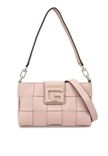 GUESS brown Liberty City Shoulder Bag 46DA7AC2B1381BGS_1