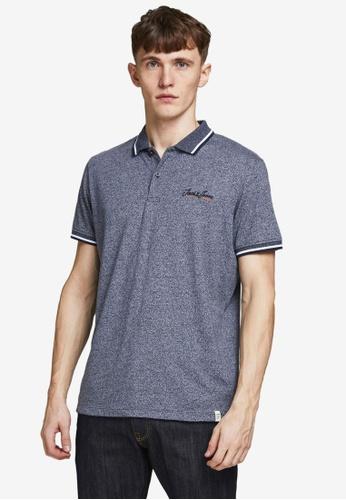 Jack & Jones navy Tons Short Sleeves Polo Shirt E76A3AAA15AB45GS_1