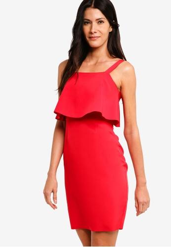 ZALORA red Ruffles Sheath Dress 2F820AA452EC9BGS_1