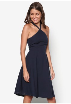 Collection Halter Neck Flare Dress