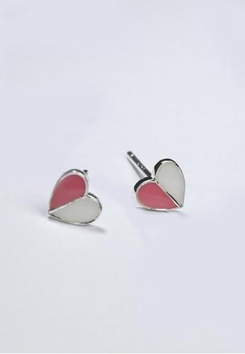 LYCKA pink LPP03615-a S925 Silver Lovely Heart Earrings 9C53DAC770B224GS_1