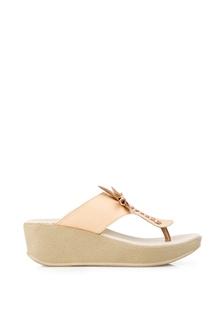 ... Sandal Wedges Wanita Aleda Cream