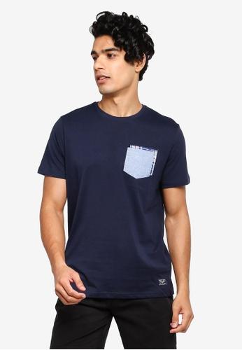 Brave Soul 多色 圓領格紋T恤 76320AABE4E5EDGS_1