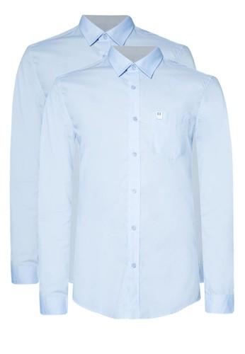 二入素色商務襯衫esprit 尺寸, 服飾, 服飾