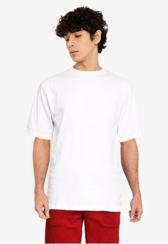 UniqTee white Oversized Cotton Knit Crew Neck Tee 1F239AA2829FE3GS_1