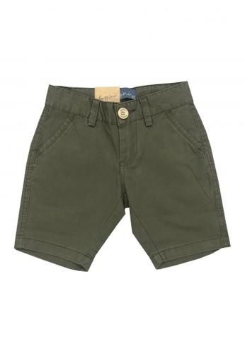 BOSSINI KIDS green Cotton Twill Shorts 167B4KA9ABE014GS_1