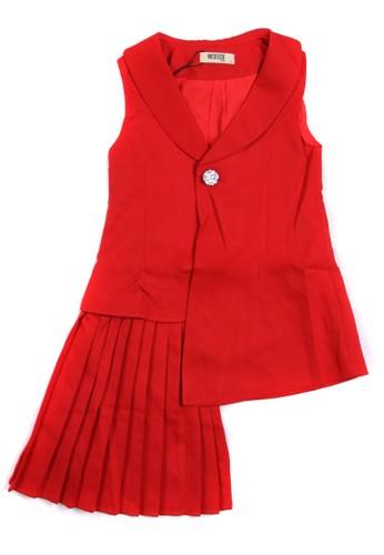 Moejoe red MOEJOE Jesslyn Ruffle Dress DE37FKAB234EAAGS_1