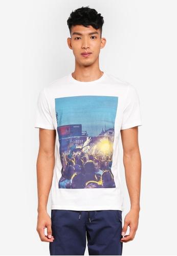 Jack & Jones 白色 短袖印花T恤 3CB81AAC87AF52GS_1